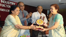 Women entrepreneur award by Smt. Anandi Patel in year 2006-07