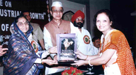 Rastriya Rattan award by Hon.Pratibha Patil in year 2007-08