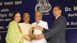 MSME award by Shri Dinsha Patel in year 2008-09