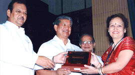 Institute of trade and industrial development Udyog-Patra award by Shri Subodh Kant Sahay In year 2010-11